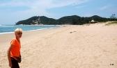 Sur la plage, avec Pascale