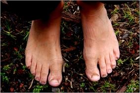 Les pieds d'Esteban au retour