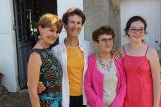 Avec Madeleine, Mita et Marie