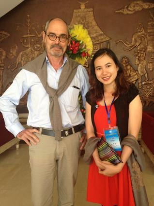 Avec Khuyen, collègue du FV