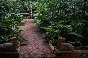 Jardin de la maison de Jim Thomson