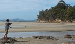 Une petite plage près de Hobart...